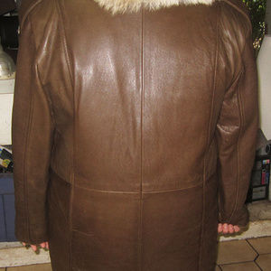 Coyote and Leather Jackets & Coats - leather coyote fur coat with removable fur vest